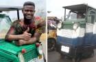 A los 24 años fabrica un automóvil con residuos y chatarra que es sostenible y puede ser guiada incluso por discapacitados