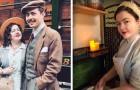 Esta joven pareja de novios se viste y vive como si estuvieran todavía en los años '30
