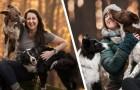 Scopre che il marito la tradisce: vende tutto e inizia a girare il mondo coi suoi cani