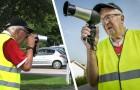 Il utilise un sèche-cheveux comme radar pour faire ralentir les voitures : l'astuce d'un vieil homme