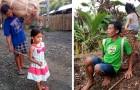 Questa bimba di 5 anni accompagna il papà non vedente a lavorare ogni giorno nelle piantagioni