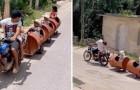 Un père de famille pauvre construit un train pour divertir ses trois enfants : une façon de vivre avec le sourire