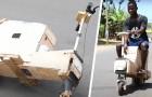 Un garçon de 17 ans construit un scooter solaire à partir de chutes de bois