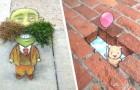 Questo artista anima le strade delle città disegnando personaggi e scene che ci fanno sognare