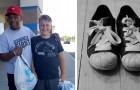 Tem só US $ 20 para gastar em sapatos para seu filho, mas um homem generoso se oferece para comprá-los