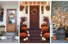 Décorez l'entrée extérieure de la maison avec tous les symboles et les couleurs de l'automne