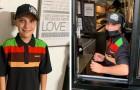 Pai orgulhoso elogia o esforço de seu filho de 14 anos por trabalhar o dia todo em um restaurante de fast food: chuva de críticas