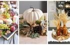 Porta in tavola la bellezza dell'autunno con delle composizioni piene di colori