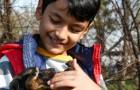 Un bambino conforta un cane ferito durante i suoi ultimi istanti di vita: si è rifiutato di lasciarlo solo