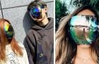 Un'azienda giapponese crea gli occhiali da sole integrali: coprono tutta la faccia come una visiera