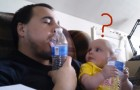 Dad starts to imitate him: the reaction of his baby is hilarious !