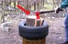 Here's an innovative and easy way to cut wood in seconds. Wow!