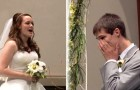 Pendant qu'il attend sa femme sur l'autel, il reçoit une surprise qui le fera pleurer