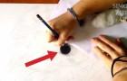 Inizia disegnando un cerchio nero... il risultato dopo due minuti è IMPRESSIONANTE