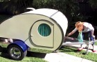 This camper looks very small, but by pulling a handle EVERYTHING changes !