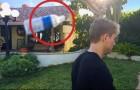 Un uomo lancia una BOTTIGLIA per terra, ma guardate cosa gli accade dopo un po'...