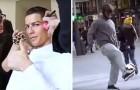 Cristiano Ronaldo speelt verkleed voetbal... De reactie van het publiek is prachtig!