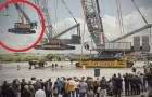 A German construction company impresses its customers with an amazing show