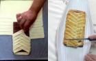 Avvolge una tavoletta di cioccolato con la pasta e crea un dolce dal sapore incredibile