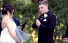 The groom takes the microphone for his wedding vow, but what he's about to do is unexpected!