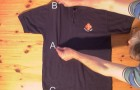 Learn how to fold a shirt in under 2 seconds with this easy trick !