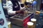 Las cervezas se llenan desde el fondo