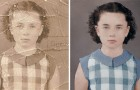 Un magicien de photoshop ramène à la vie une vieille photo presque détruite