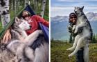 Er nimmt seinen Wolfshund zu einer EPISCHEN Reise mit, weil er es hasst Hunde zu sehen, die im Hof eingesperrt sind