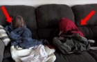 The reason why these children are trying to hide, will make you laugh!