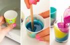 Pastelli a cera nel microonde: ecco un progetto dal risultato elegante e divertente