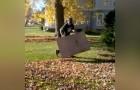 La manière la plus rapide pour se libérer des feuilles mortes... Avec SEULEMENT un carton