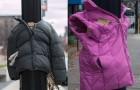 In questa città i bambini stanno appendendo cappotti ai pali per un'ottima ragione