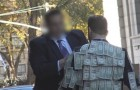 He walks around wearing a money suit: look at how people react ...