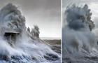 Pendant six ans, un photographe immortalise les vagues effrayantes qui s'abattent sur un phare anglais