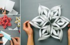 Take a sheet of paper: here's how to turn it into a 3D snowflake