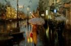 Il immortalise la ville les jours de pluie: ses photographies ressemblent à des peintures