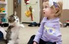 Une petite fille perd un bras à 10 mois, mais un ami
