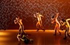 Un ballerino si muove sul palco: lo schermo