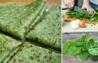 Con solo 3 ingredienti cucina delle piadine agli spinaci... SENZA farina