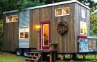 Ze kocht een oude caravan en transformeerde dit in een perfect huis om haar oude dag in door te brengen.