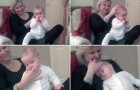 A mother shows how she puts her baby to sleep ... In less than a minute!