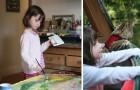 Une petite fille autiste âgée de 6 ans peint des tableaux magnifiques : Angelina Jolie en a même acheté un !