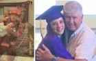 Een brandweerman redde een baby van de vlammen... 17 jaar bedankt ze hem voor het redden van haar leven