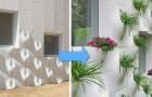 Ecco un'idea semplice ma ingegnosa per trasformare un muro in un giardino