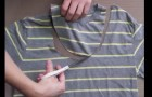 Vous avez un vieux T-shirt? Avant de le jeter, voici ce que vous pouvez en faire