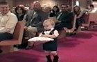 The little ring bearer is doing fine --- but see what he does at the end!