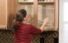 Use wire closet shelving in kitchen cabinets?! ---- Yes....An excellent idea for organizing canned goods!