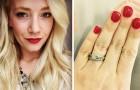 Le dicono che il suo anello di fidanzamento è troppo piccolo: con questa risposta zittisce tutti