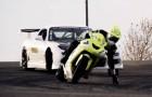 Kawasaki ZX10 vs. Corvette RX7 - Driften
