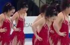 Ein wunderschönes Lied beginnt. Der Auftritt der Eisläuferinnen macht das Publikum ganz verrückt